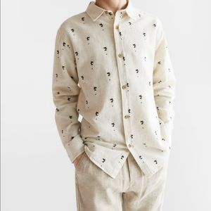 Zara OUTFIT - Boys White W/Palms and shorts